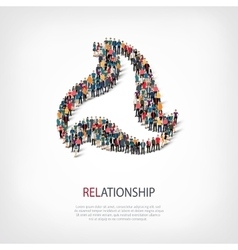 Relationship people sign 3d vector