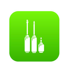 screwdriver icon green vector image