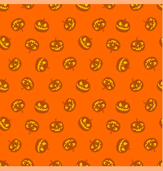 seamless pattern of pumpkins haloween vector image