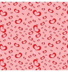 Seamless pattern of symbolic hearts vector image