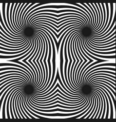 Seamless swirl pattern radiating lines with vector