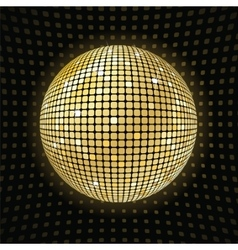 Shiny disco ball vector image