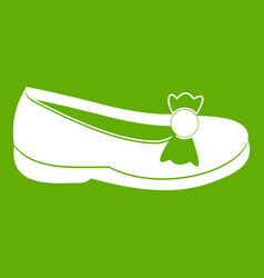 shoe icon green vector image