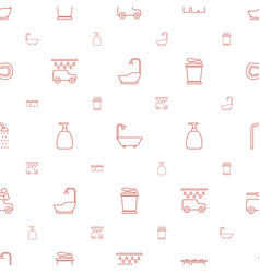 Shower icons pattern seamless white background vector