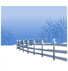 Snowy winter landscape vector