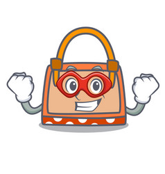 super hero hand bag character cartoon vector image