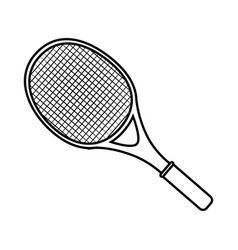tennis racket isolated vector image