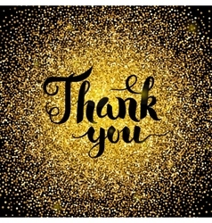 Thank You Gold Design vector image