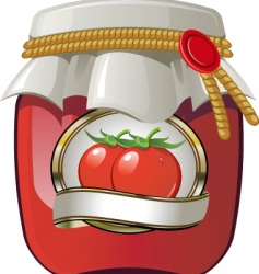 tomato sauce vector image vector image