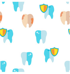 tooth icon seamless pattern vector image