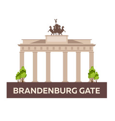 Travel to germany brandenburg gate vector