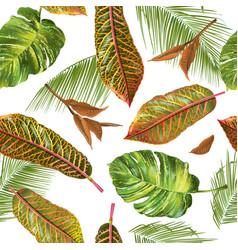 Tropial leaves pattern vector