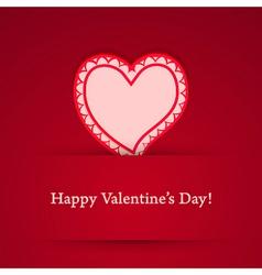 Valentine day heart sticker vector image