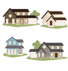 victorian or american country style house vector image