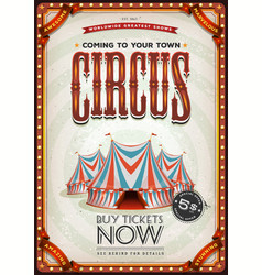 Vintage old circus poster vector