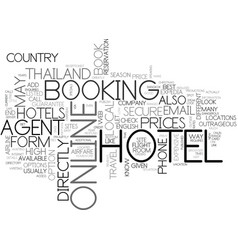 what s the best way to book your hotel in vector image