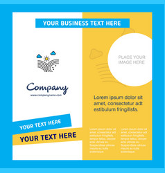 wind blowing company brochure template busienss vector image