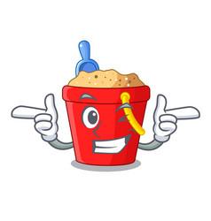 Wink beach bucket shape the fun character vector