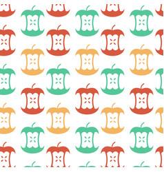 Apple core seamless pattern fruit trash ornament vector