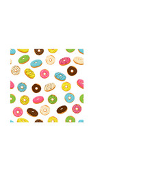 Different colored confection doughnuts vector