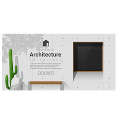 elements of architecture window background 8 vector image