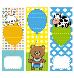 fun invitations with animals vector image vector image