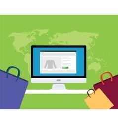 Online e-commerce concept vector