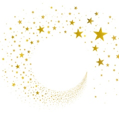 Stream gold stars vector