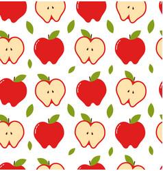 apple seamless pattern modern vector image vector image