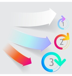 arrow origami style banner vector image vector image