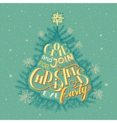 Christmas eve party invitation vector image vector image