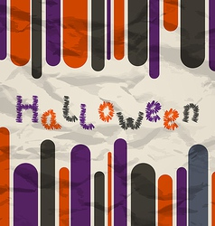 Old colorful poster with text for Halloween vector image vector image