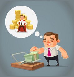 ruined unemployed businessman character vector image