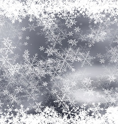 Snowflakes Borders vector image vector image