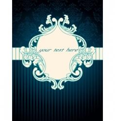 vintage rococo label vector image vector image