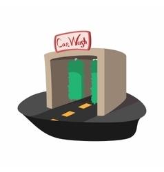 Car wash building cartoon icon vector image vector image