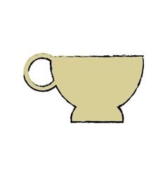 cartoon cup coffe break time office icon vector image