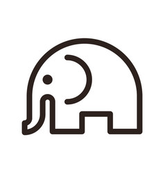elephant sign vector image