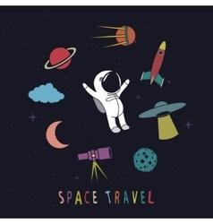 Funny astronaut vector