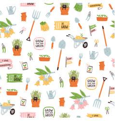 garden theme pattern vector image