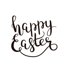 happy easter hand-drawn lettering decoration text vector image vector image