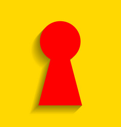 keyhole sign red icon with vector image vector image