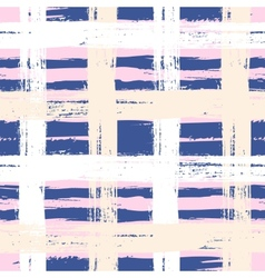 Plaid pattern with wide brushstrokes vector image vector image