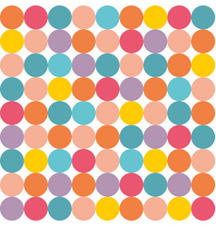 tile pattern with pastel polka dots on white vector image