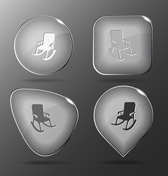 Armchair Glass buttons vector image