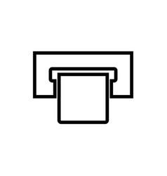 atm card slot black color icon vector image