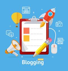 blogging concept vector image vector image