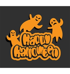 Flying ghosts halloween background vector