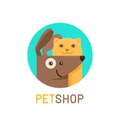 logo design template for pet shops veterinary vector image vector image