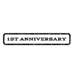 1st anniversary watermark stamp vector